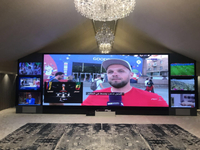 "283"" LED TV home theatre"